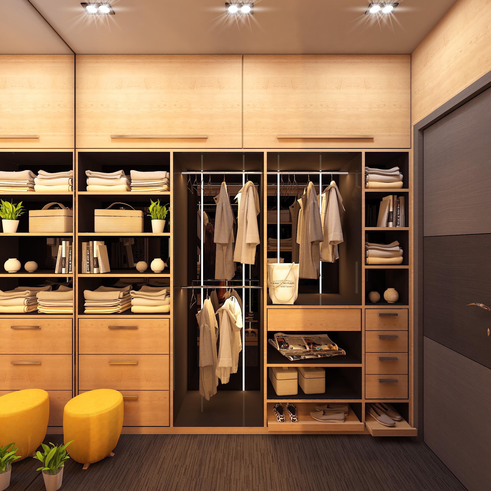Residential Bedroom Closet Interior Design in Siliguri